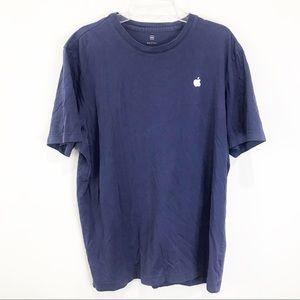 APPLE 🍎 Navy Employee Short Sleeve T-Shirt MED